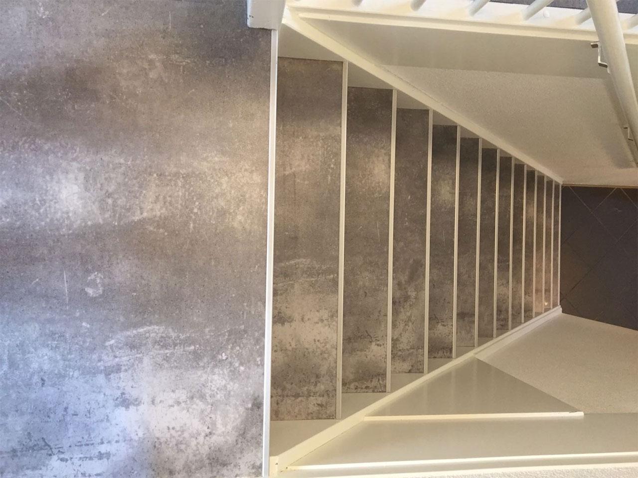 Trap met pvc betonlook
