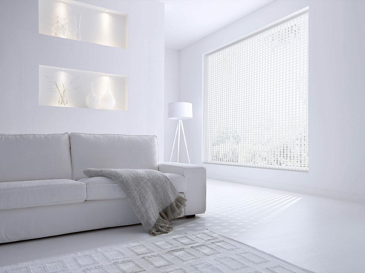 Witte plissés