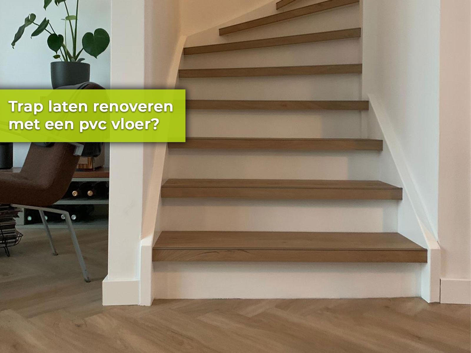 Traprenovatie PVC vloer